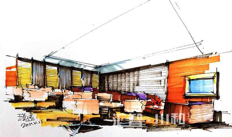 商业空间手绘效果图