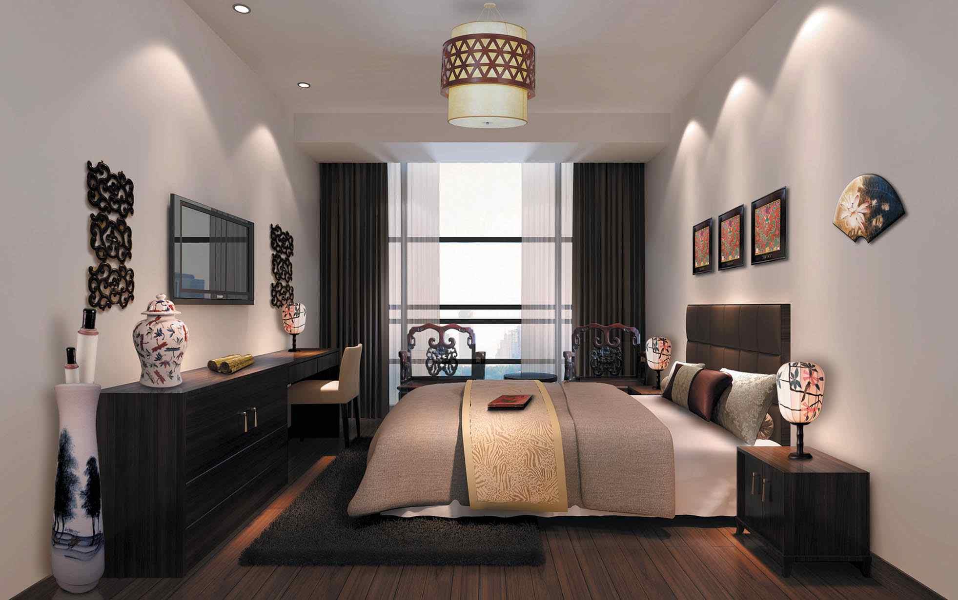 中式風格室內裝修強調中國傳統居室布置中重視的富貴、端